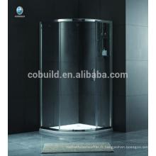 K-551 Europe et Afrique simple petite cabine de douche en verre debout libre