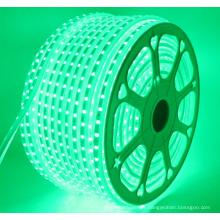 Lumières flexibles de bande de RGB LED de CA 110-120V, 60 LEDs / M, imperméable, couleur changeante de lumière de corde de 5050 SMD LED multi de couleur