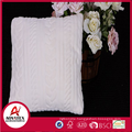 New design 100% polyester solid imitation hemp cushion cover for sofa