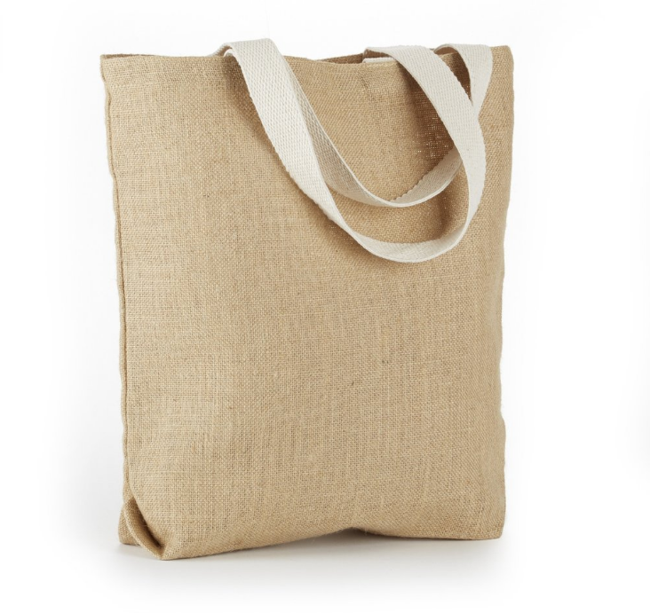 Jute bag put bread sticks