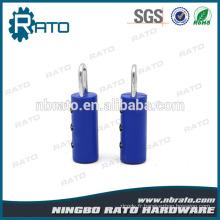 Coffre à combinaison tubulaire lumineux en plastique robuste et sécurisé