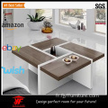Plans de table basse carrée en bois, italien