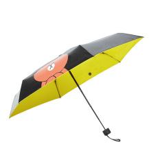 B17 5 Falten Cartoon Bär Sonnenschirm Handy Regenschirm