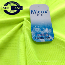 special bird eye dry-fit yarn micax moisture wicking cooling sportswear fabric