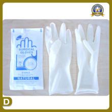 Fournitures médicales de fournitures médicales de gants de latex chirurgical