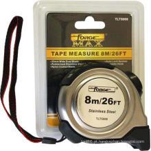 OEM revestido de medição de nylon de Forgemax da caixa de metal da medida de fita de S / S