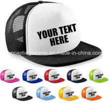 Personalizado personalizado impresso metade meia-beisebol rapper cap flat peak snapback