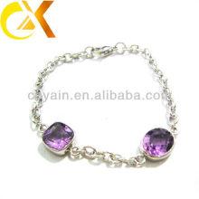 Pulseira de pedra roxa pulseiras pulseira de cristal roxo