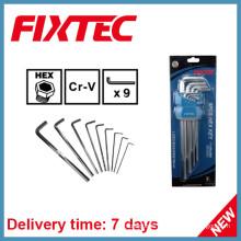 Fixtec Hand Tools 9PCS CRV Hex Key Wrench Set