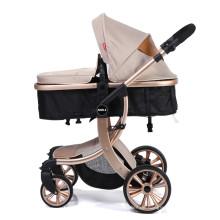 Kinderwagen 2 in 1 Kinderwagen mit umwandelbarem, umkehrbarem Stubenwagen und Stoßdämpfer für Neugeborenen-Sitz- und Schlafwagen