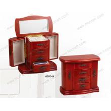 Nova caixa de jóias de madeira para jóias