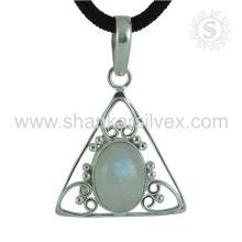 Nuevo Graceful RMS piedras preciosas colgante hecho a mano 925 joyería de plata esterlina Jaipur Whlesale joyas