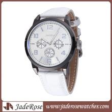 Reloj de pulsera Simple Alloy Watch para mujer con correa de cuero