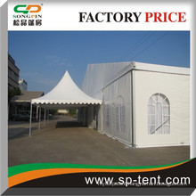 Durable updated combined pagoda tent with party marquee for weddings