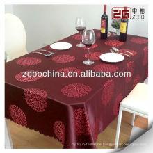 Großhandel roter Polyester Jacquard Tisch Tuch