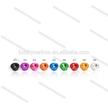 Serrated nuts Colored aluminum hex flange nuts/standoffs/spacers
