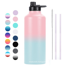 Eco-friendly Product Double Walled Wide Mouth Stainless Steel Vacuum Flask 80oz Water Bottle