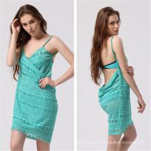 Sexy Lace Bikini Beach Wrap Dress (53014)