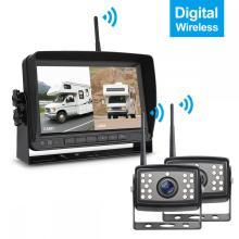 Sistema de câmera digital sem fio para estacionamento de ré para veículos