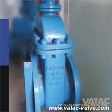 Válvula de compuerta de asiento suave con brida Gg25 / Gg40 RF de hierro fundido DIN