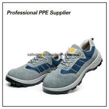 Couro genuíno de alta qualidade Ce Standard Safety Work Shoes