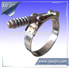 T type hose clamp with spring