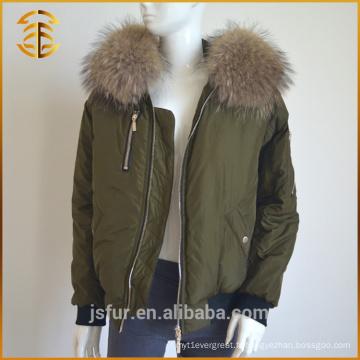Nouvelle conception de style européen Femmes véritable Fox Fur hiver Parka