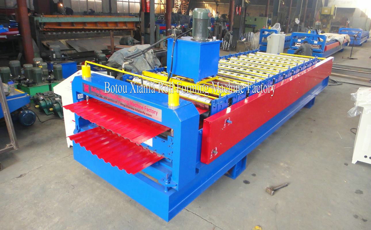 TR double deck forming machine