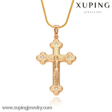32161-Xuping Jewelry Fashion Gold Religion colgante con cruz