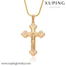32161-Xuping Bijoux Fashion Or Religion Pendentif Avec Croix