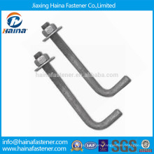 HDG L Type Foundation Bolt with Nut and Washer