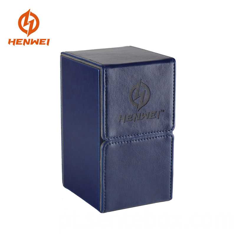 Leather Deck Box with drawer