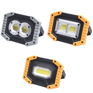 COB Work Light Rechargeable Portable Waterproof LED Flood Lights for Outdoor Camping Hiking Emergency Car Repairing and Job Site Lighting