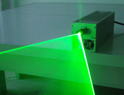 Continuous laser light sheet