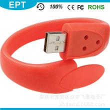 Pulsera del USB del silicón del OEM / memoria USB de la pulsera 2.0 para el regalo