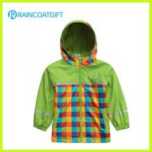 Hochwertige Kinder PU Regenmantel mit Jersey Futter Rpu-006
