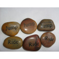 Hot Sale Engraved Natural Cobble Stones for Vases