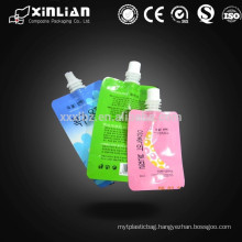 Gravure Printing Surface Handling and Accept Custom Order liquid stand up pouch with spout