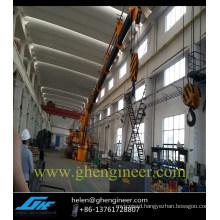 Electric Hydraulic Telescopic Crane For Ship/ Deck /ffshore platform