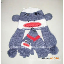 knitted adult hat and glove sets