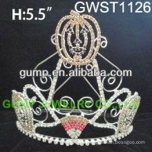 Seasonal cute pumpkin pageant custom crystal crown -GWST1126