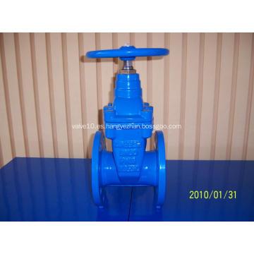 Válvula de compuerta de hierro fundido de asiento resistente
