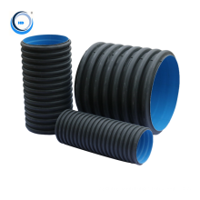 standard size 1000mm large plastic corrugated drain hdpe  pipe