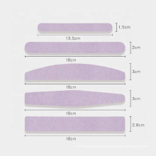 Half Moon Shape Replaceable Adhesive Sandpaper Stainless Steel Nail File
