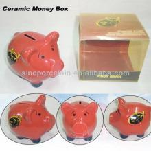 Caixa de dinheiro cerâmica bonito Caixa de cor forte do PVC para BS11923