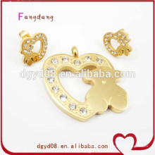 2015 stainless steel set jewelry wholesale