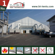 Luxury White New Design Curved Roof Fair Tent for Sale