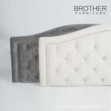 Vente chaude arabe tête de lit en tissu king-size unique