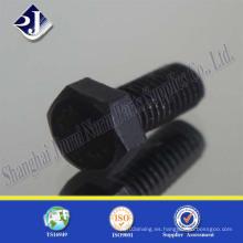 Grado 10.9 Tornillo hexagonal (zinc negro)