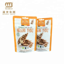 Resealable Stand Up Custom Bright Color Natural Flavor Food Grade Bag Heat Seal With Euro Hole